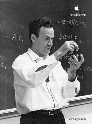 Feynman in classroom